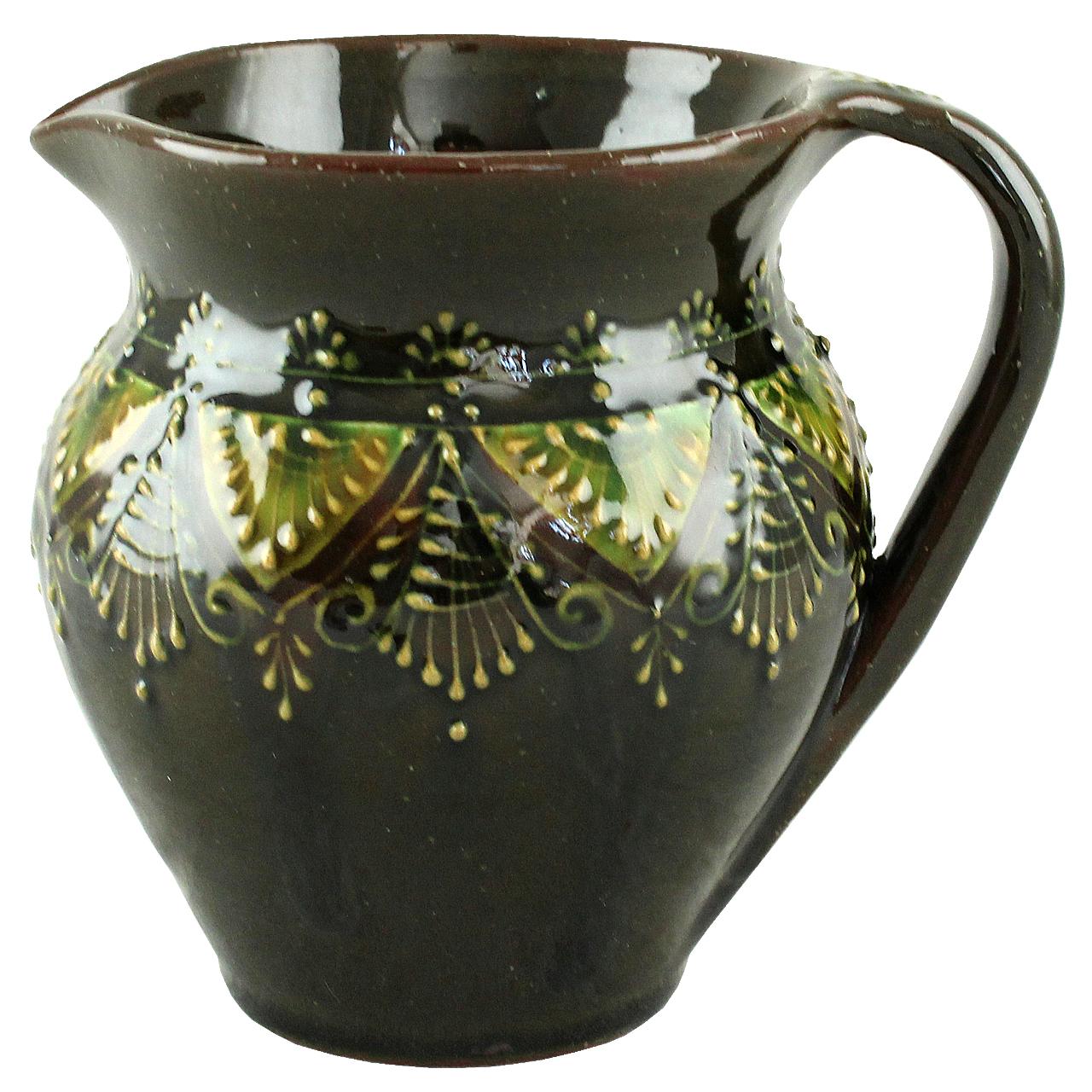 Vas Traditional Din Ceramica Pentru Lapte