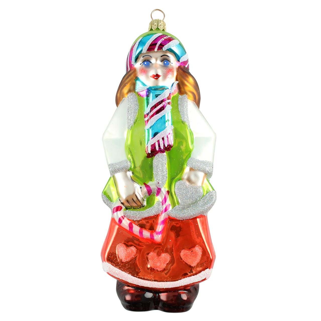 Decoratiune Glob Craciunita Din Sticla Multicolor