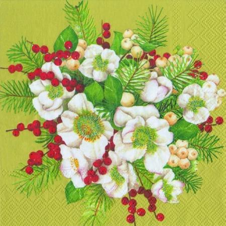 Servetele Decorative Din Hartie Cu Flori Spanz 33