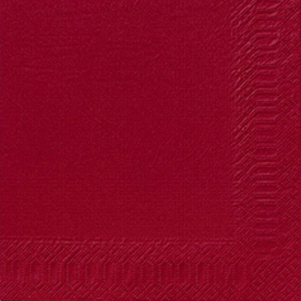 Servetele Decorative Din Hartie Rosie 24 Cm