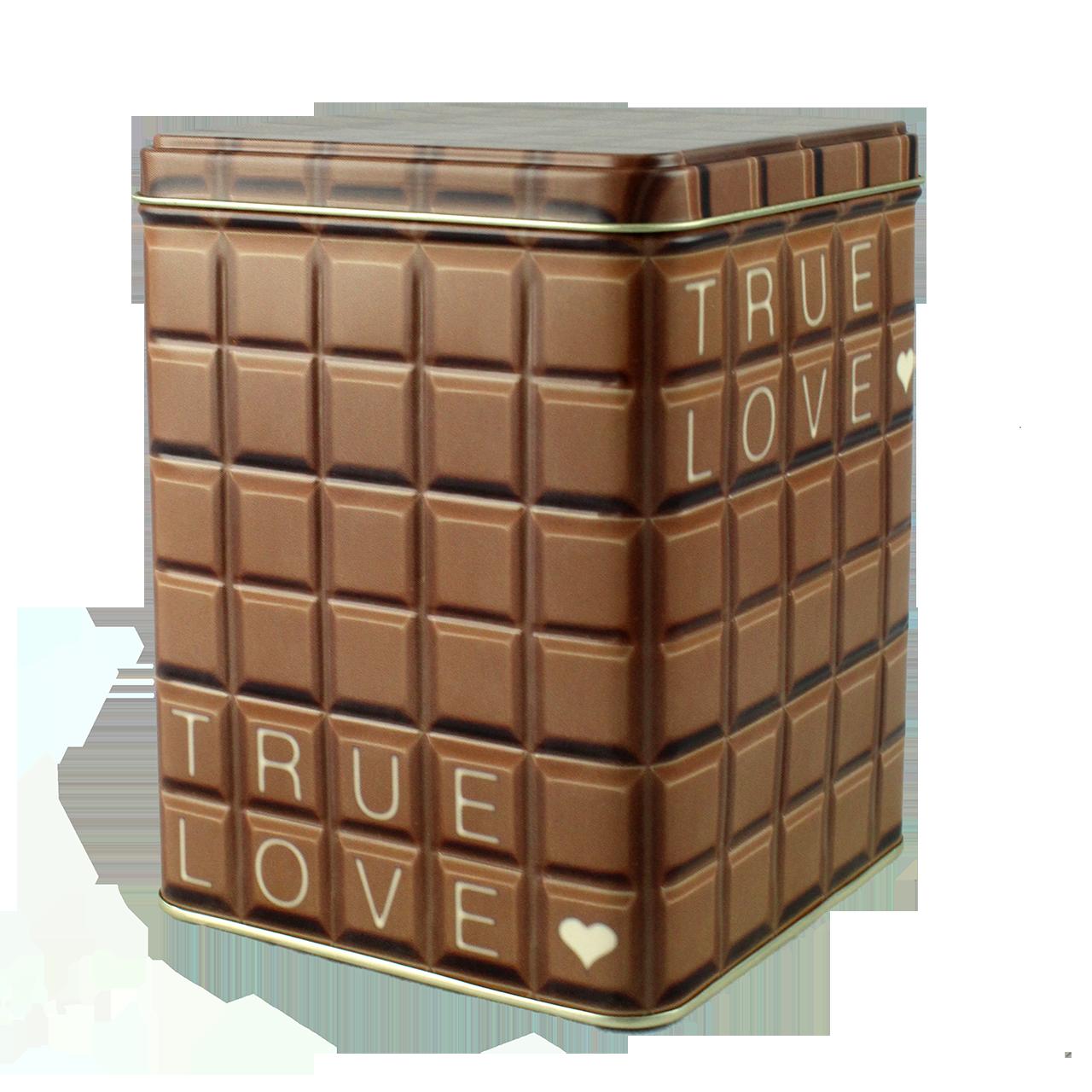 Cutie Din Metal Cu Aspect De Ciocolata 15 Cm