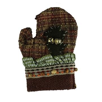 Manusa Decorativa De Bucatarie Din Textil Cu Clopotei