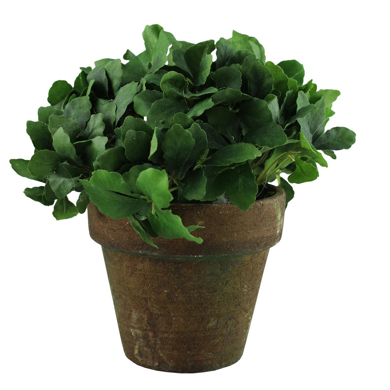 Floare Artificiala Plante Aromate In Ghiveci Maro 14 Cm