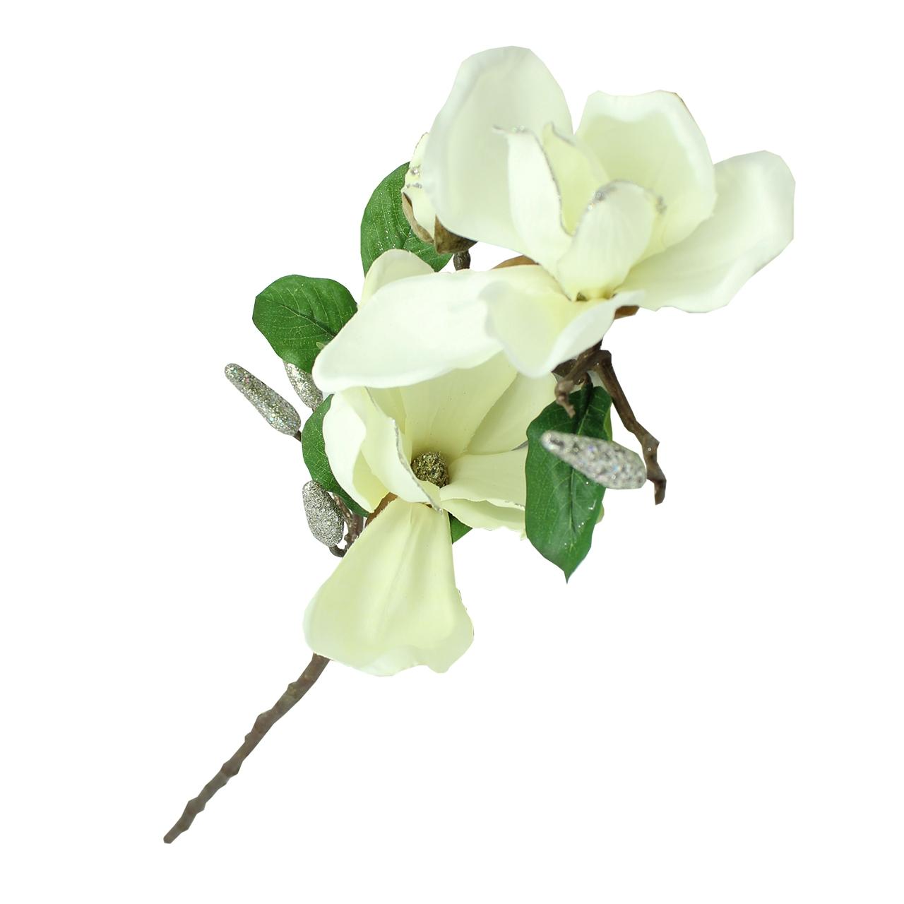 Floare Artificiala Magnolia Alba 70 Cm