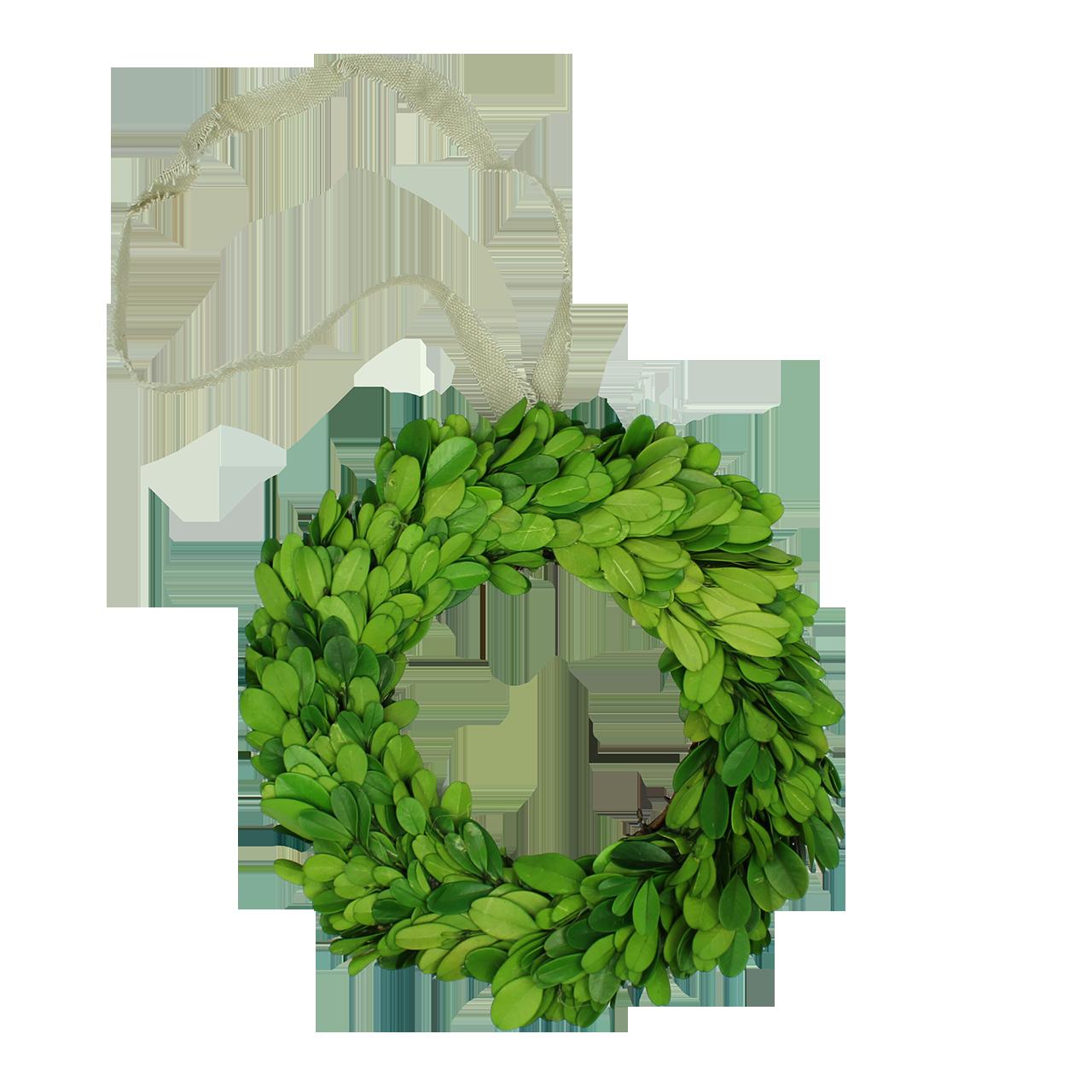 Coronita Decorativa Rotunda Din Buxus Verde 20 Cm