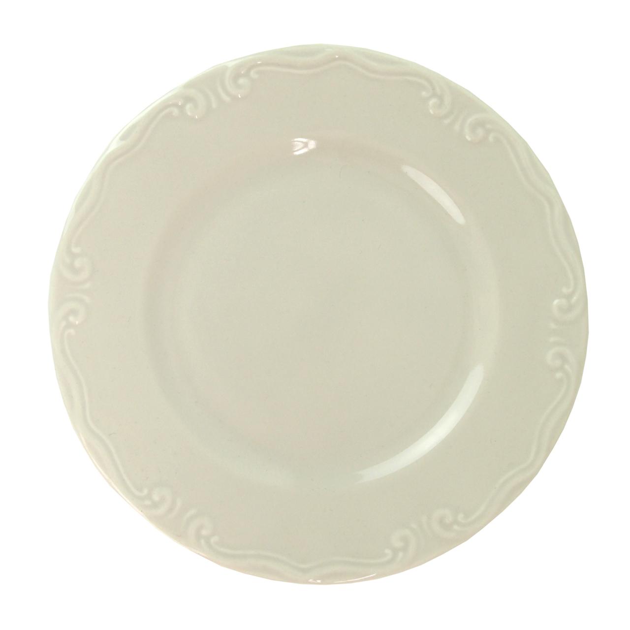 Farfurie Intinsa Royalty Din Ceramica Crem 26 Cm
