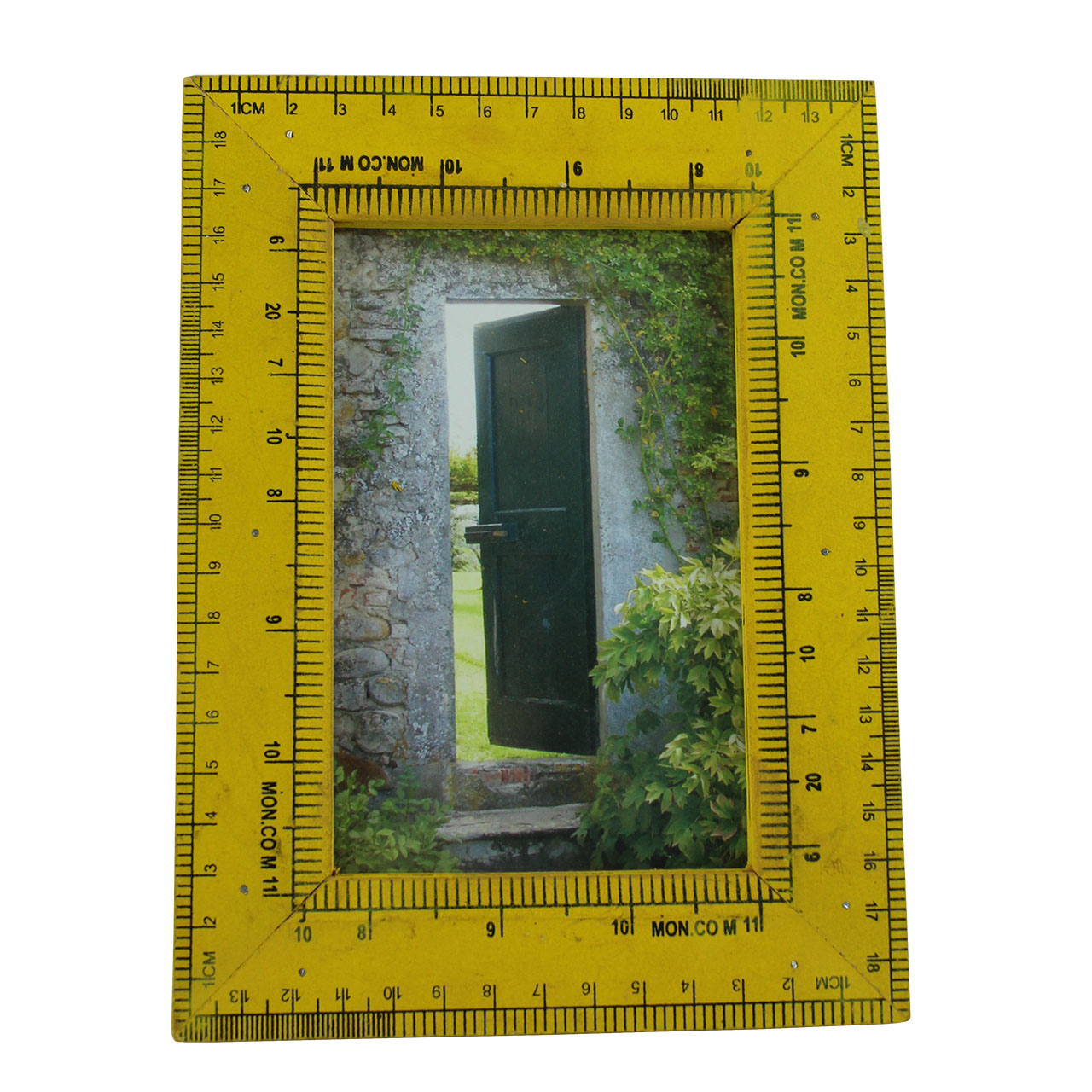 Rama Foto Liniar Din Lemn Galben 16x20 Cm