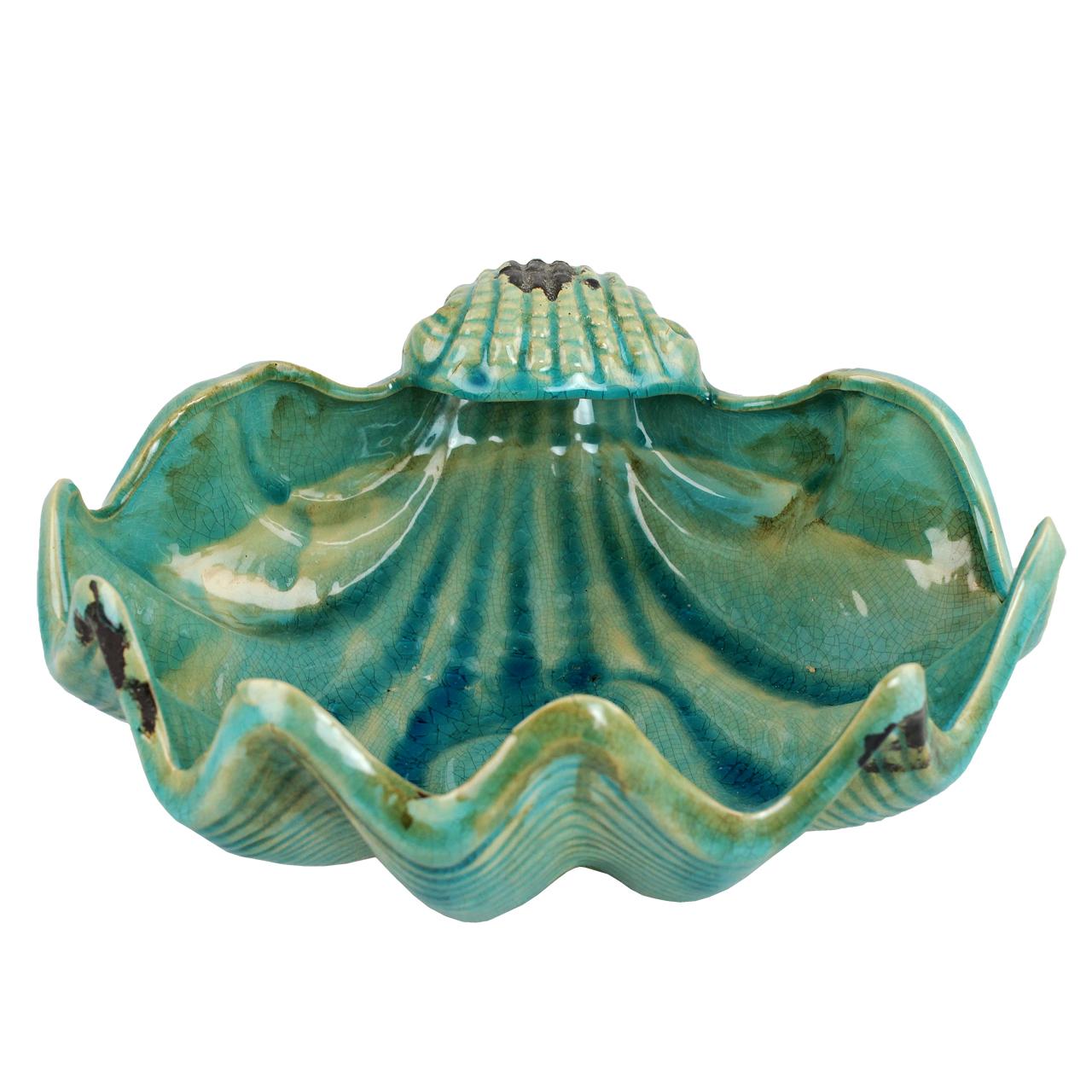 Jardiniera Decorativa Scoica Din Ceramica Turcoaz