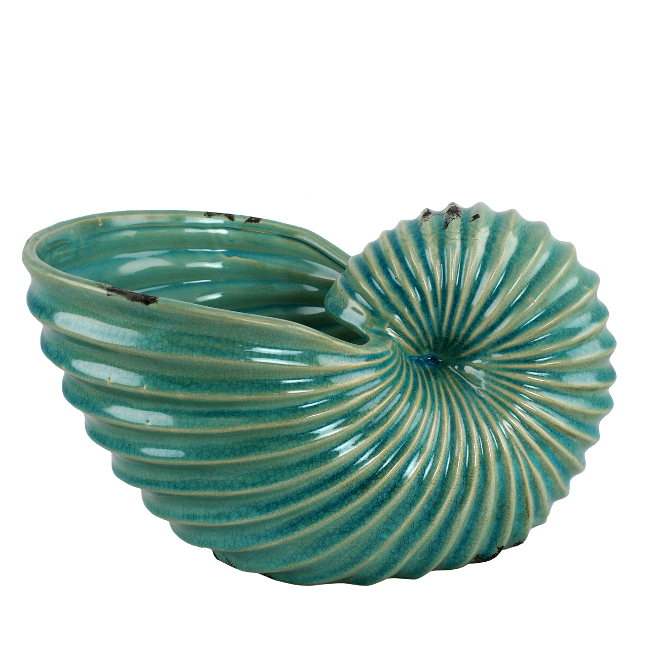 Jardiniera Melc Din Ceramica Turcoaz 32 Cm