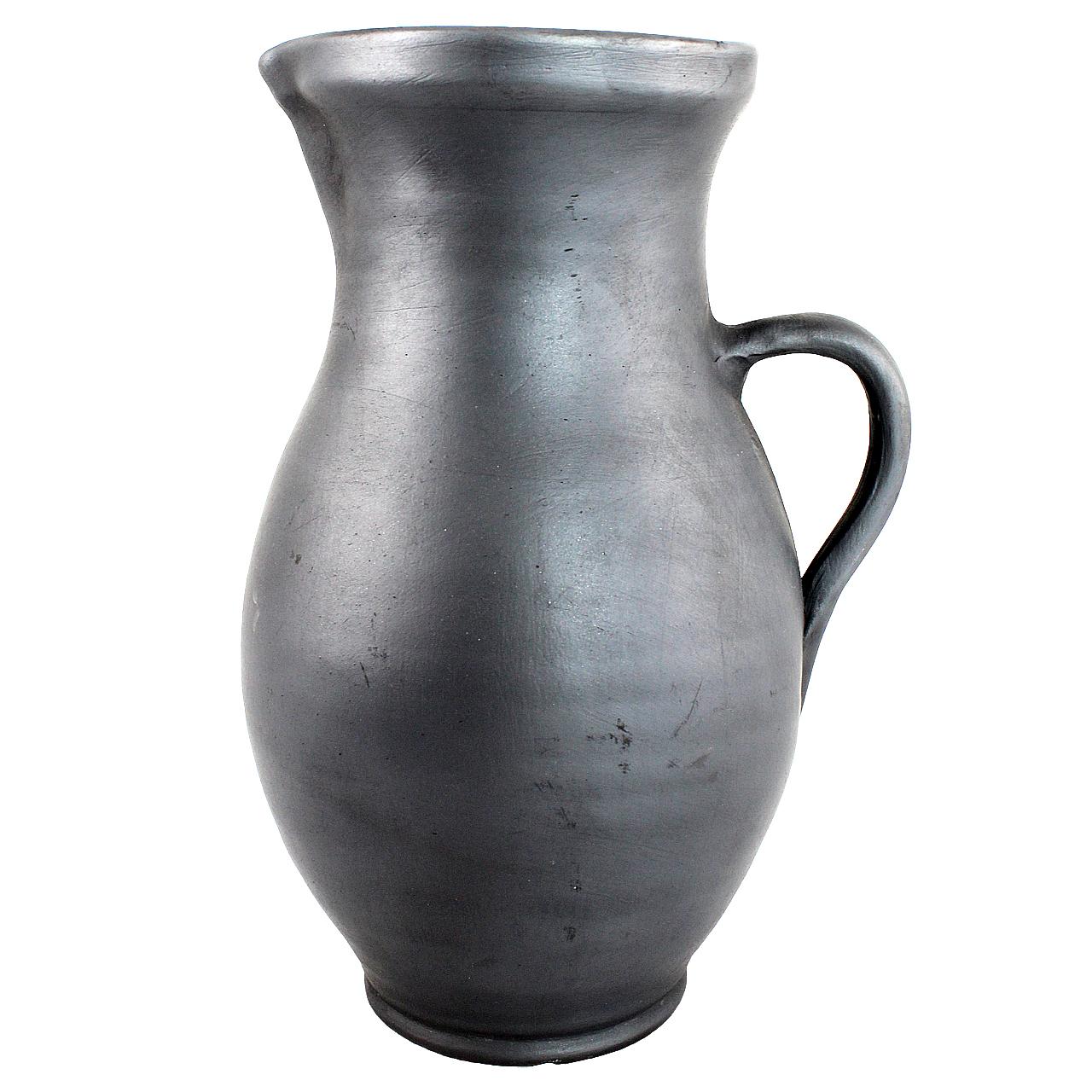Carafa Pentru Vin Din Lut Negru 28 Cm