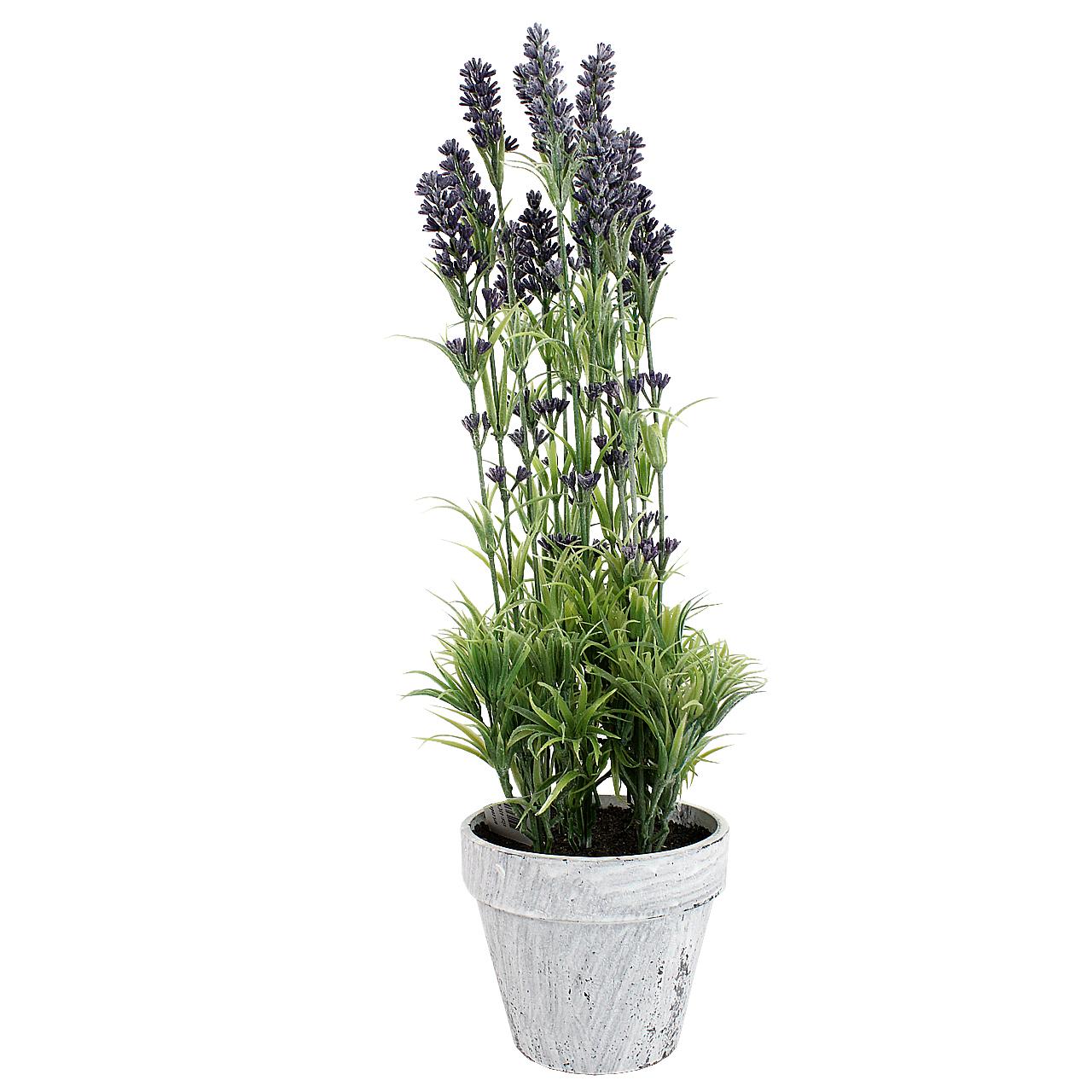 Floare Artificiala Lavanda In Ghiveci 48 Cm