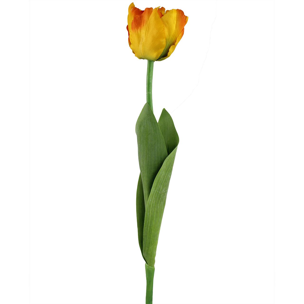 Floare Artificiala Lalea Portocalie 60 Cm