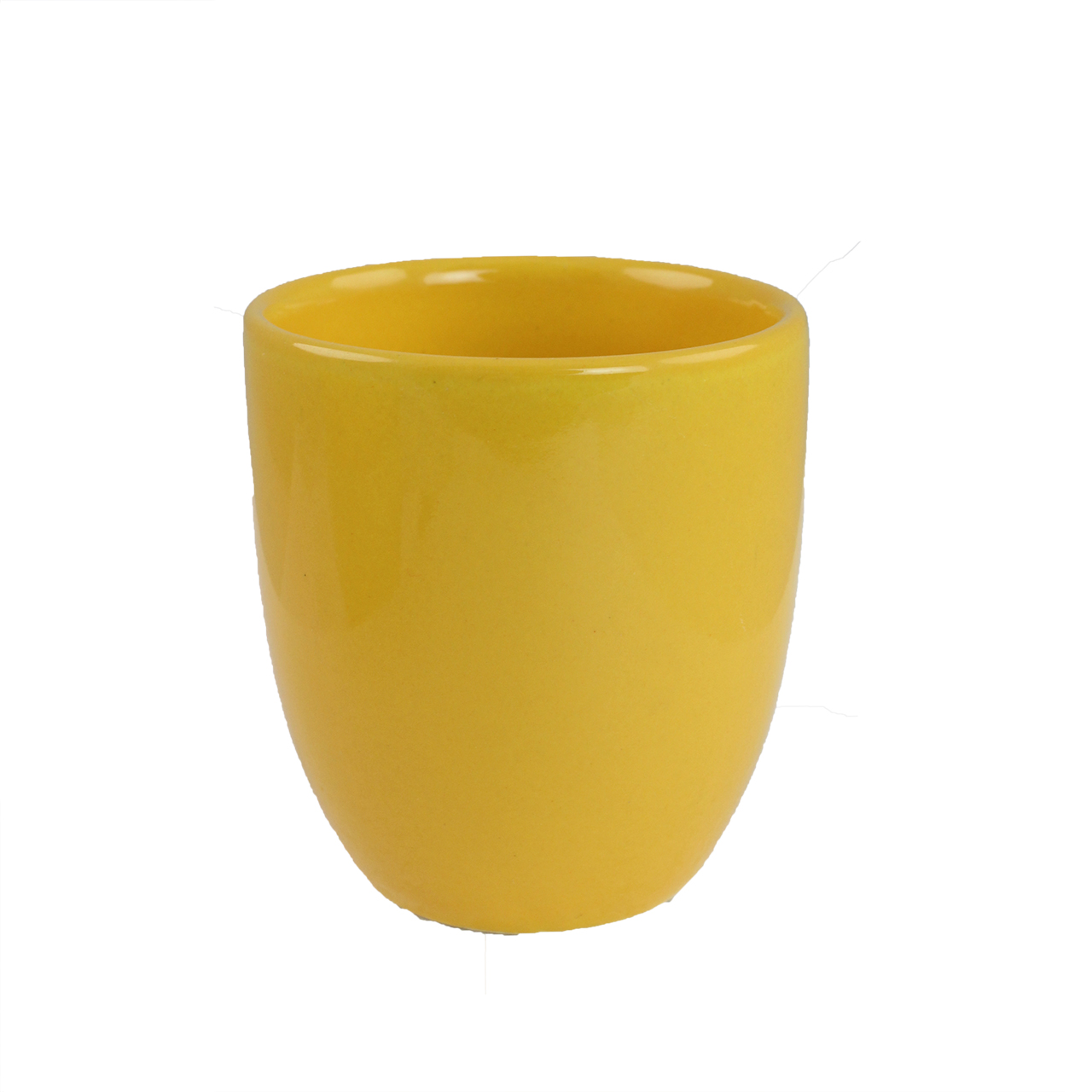 Pahar Din Ceramica Galbena 8 Cm
