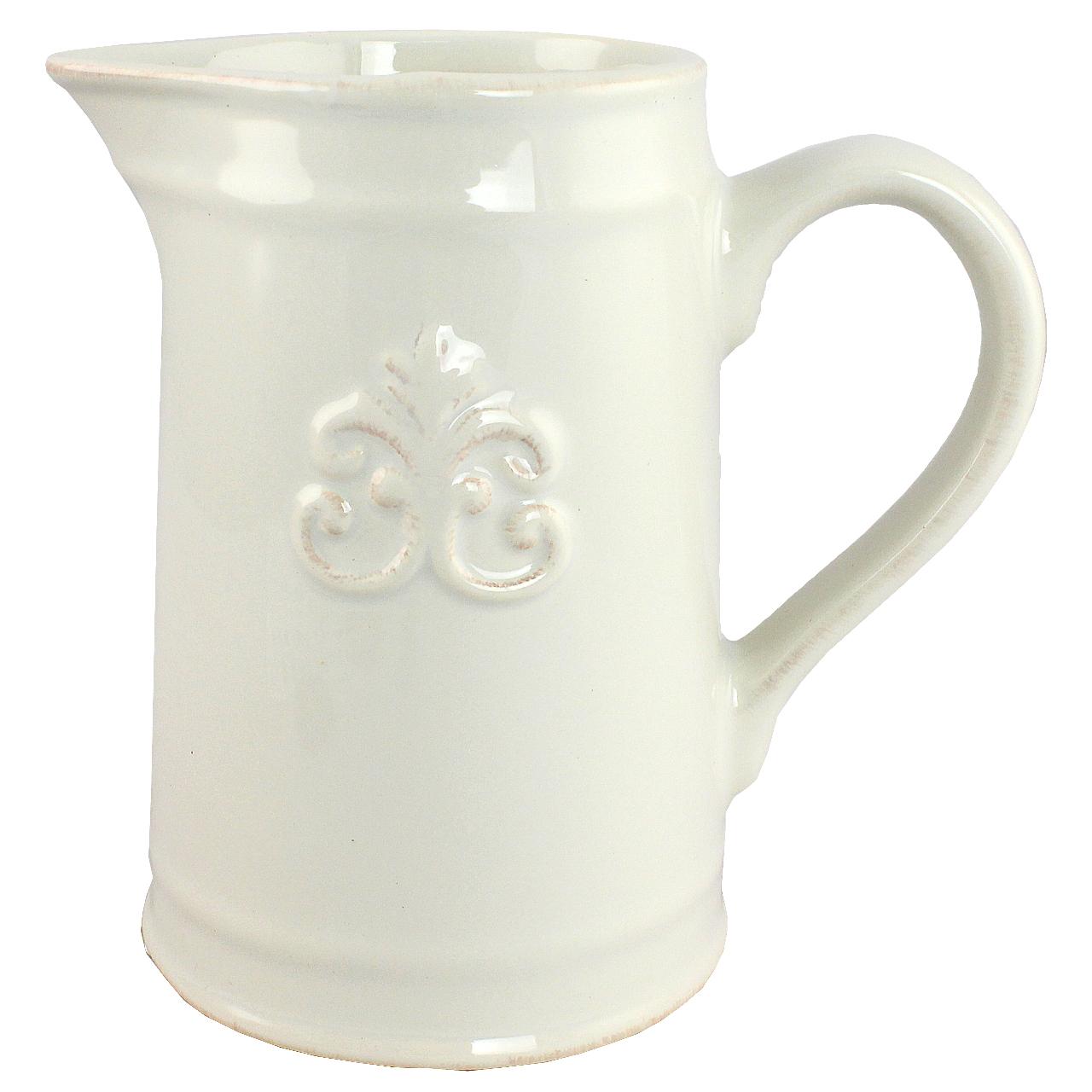 Ghiveci Carafa Din Ceramica Alba