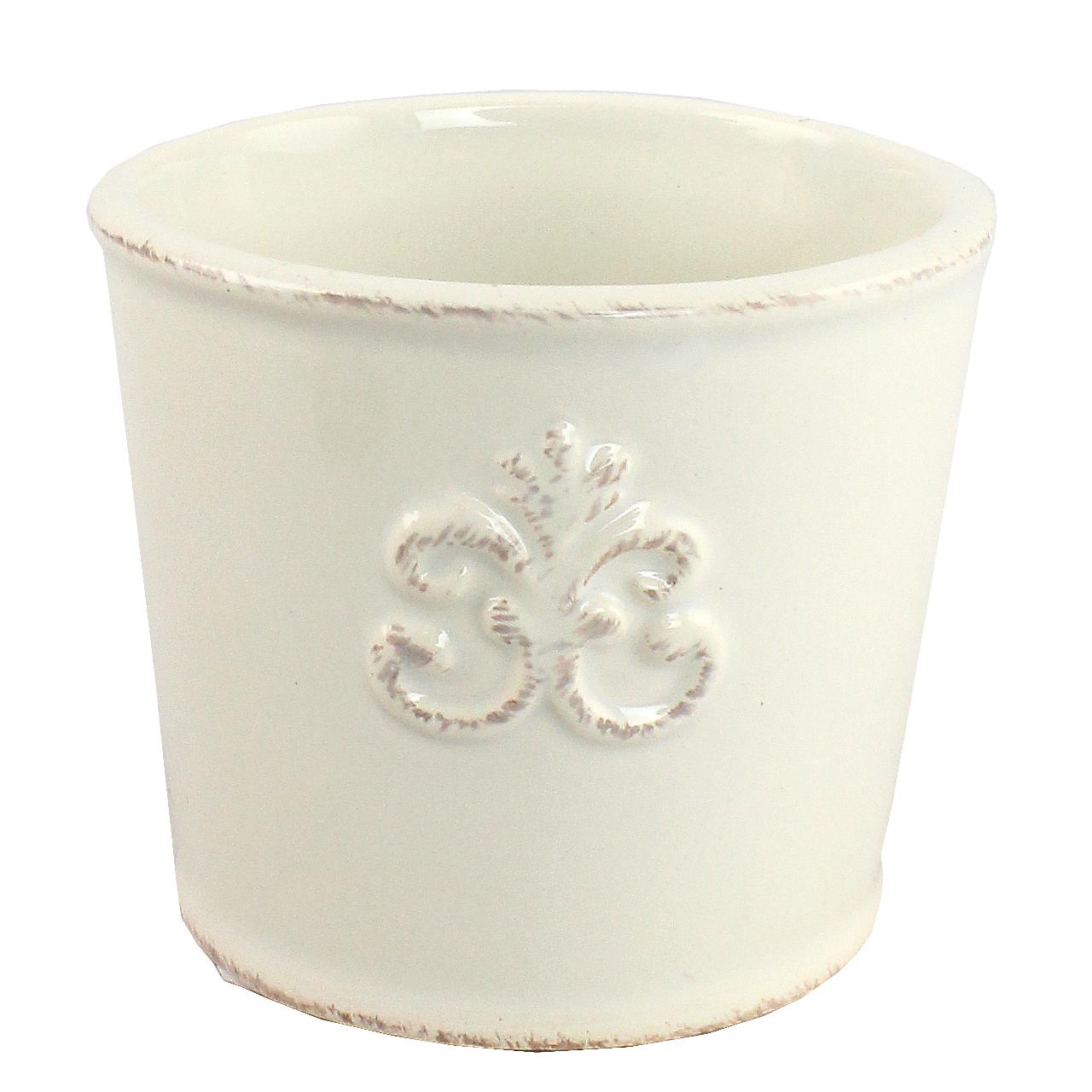 Ghiveci Din Ceramica Alba 7 Cm