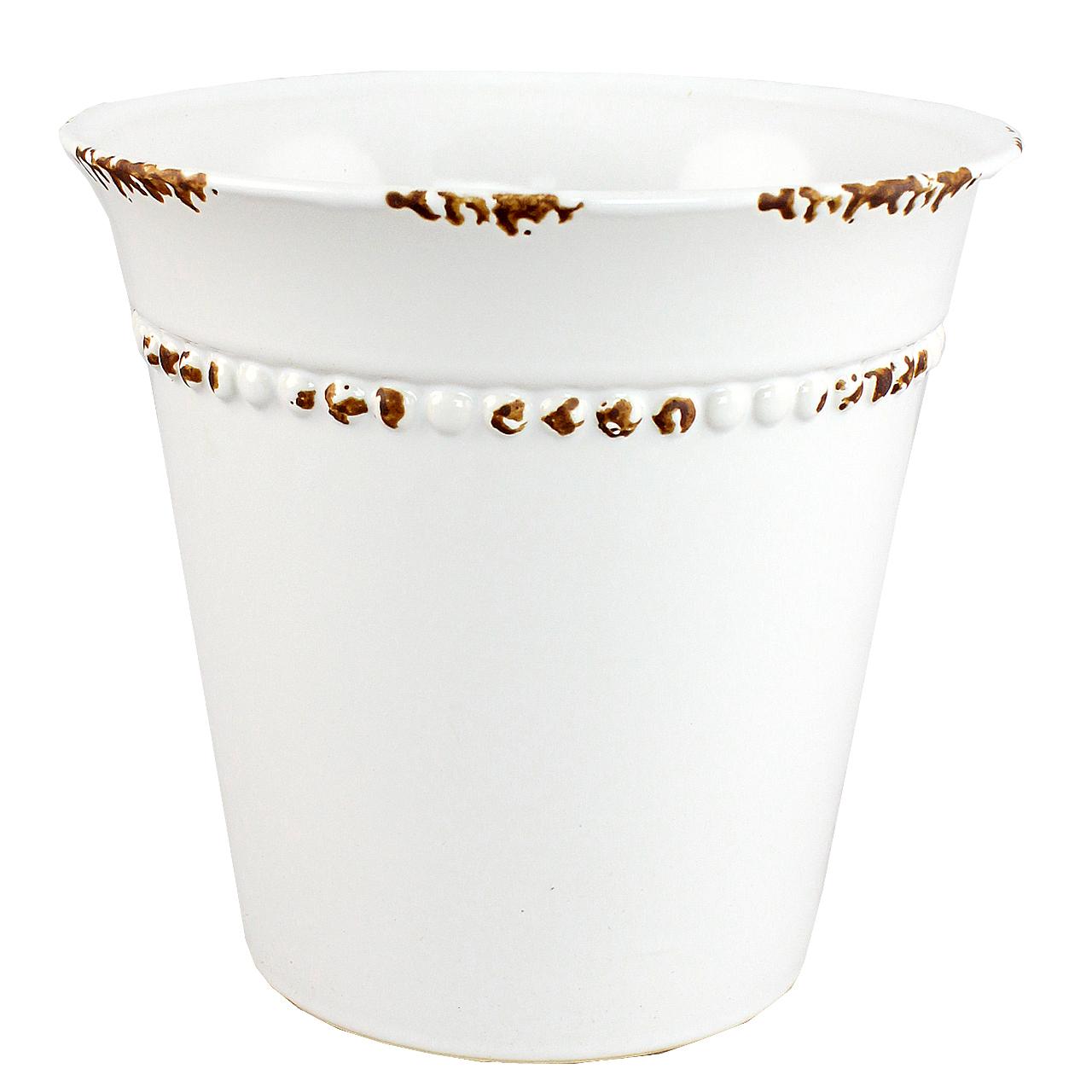 Ghiveci Din Ceramica Alba 16 Cm