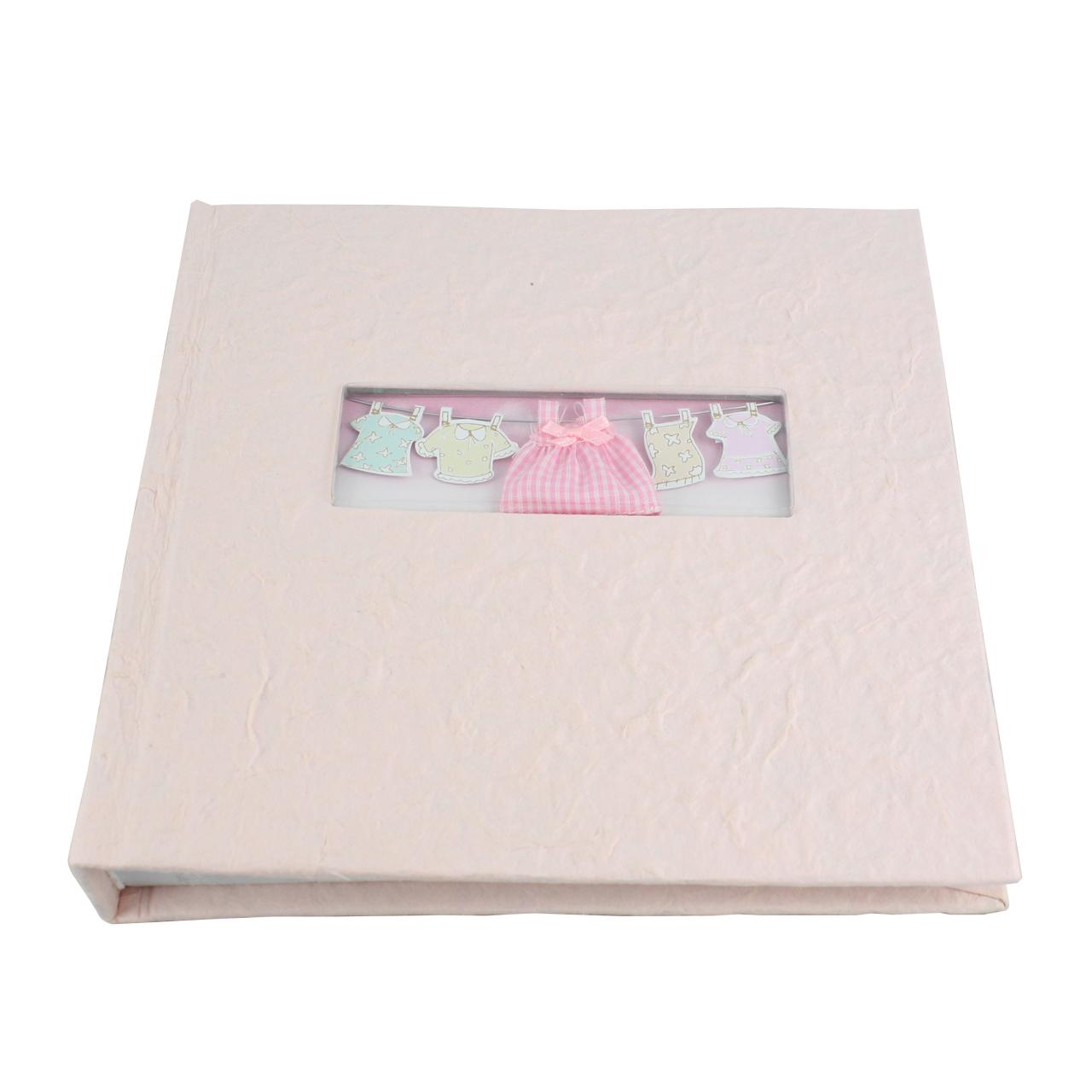 Album Foto Patrat Din Carton Roz 22x22 Cm