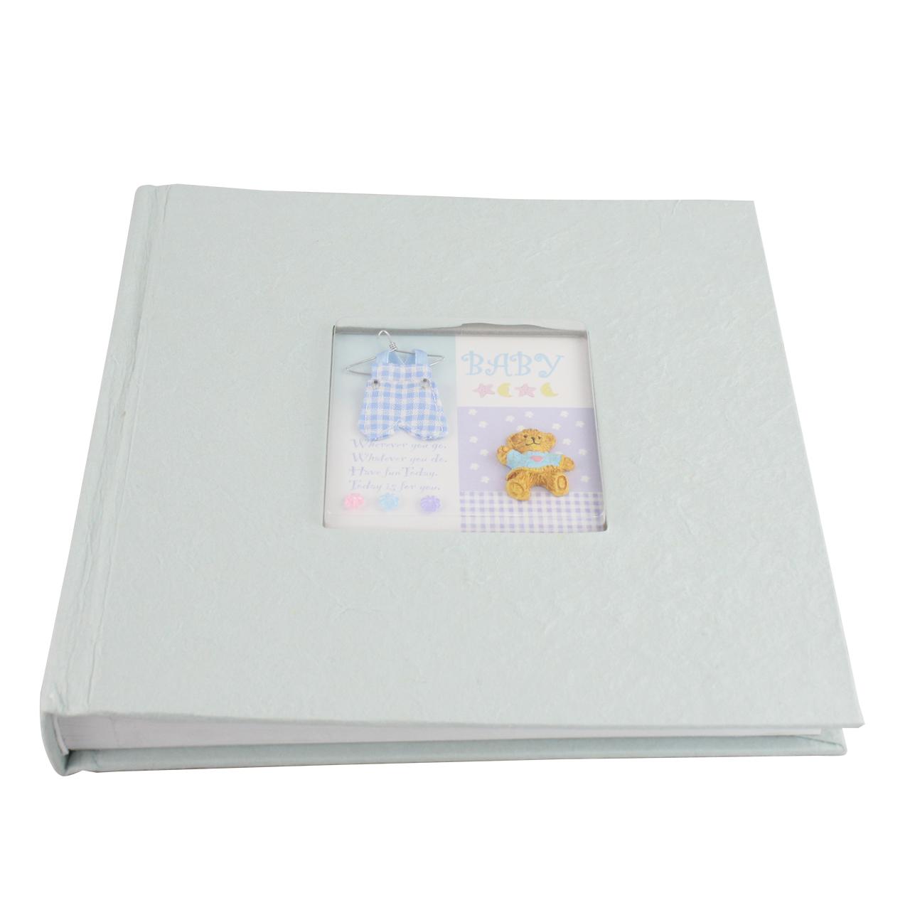 Album Foto Din Carton Albastru Deschis 22x22 Cm