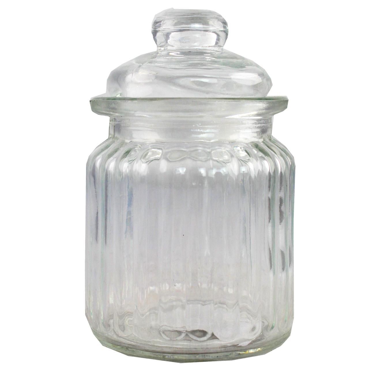 Borcan Cu Capac Din Sticla 13 Cm