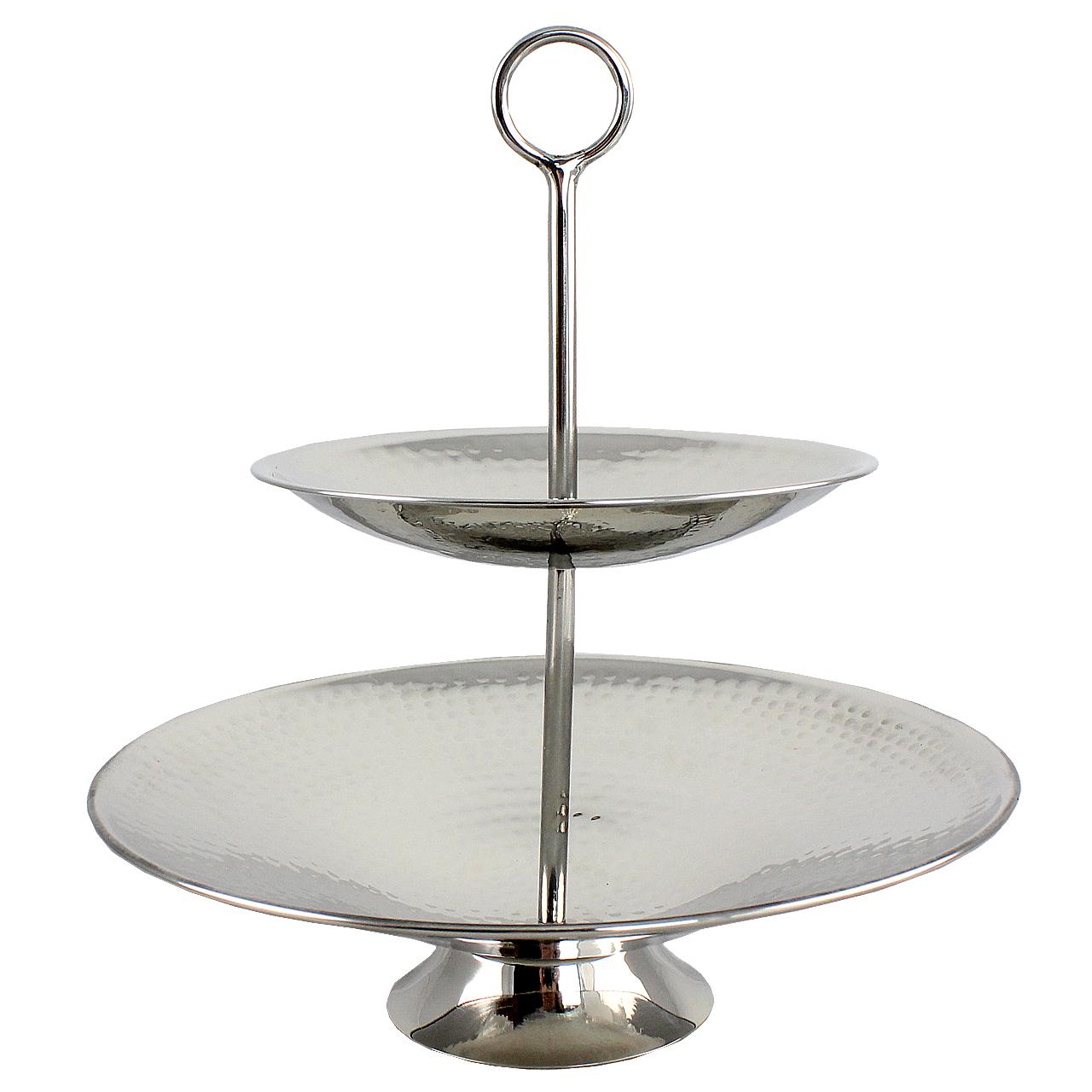 Tava Etajata Elegance Din Metal Argintiu 21.5 Cm