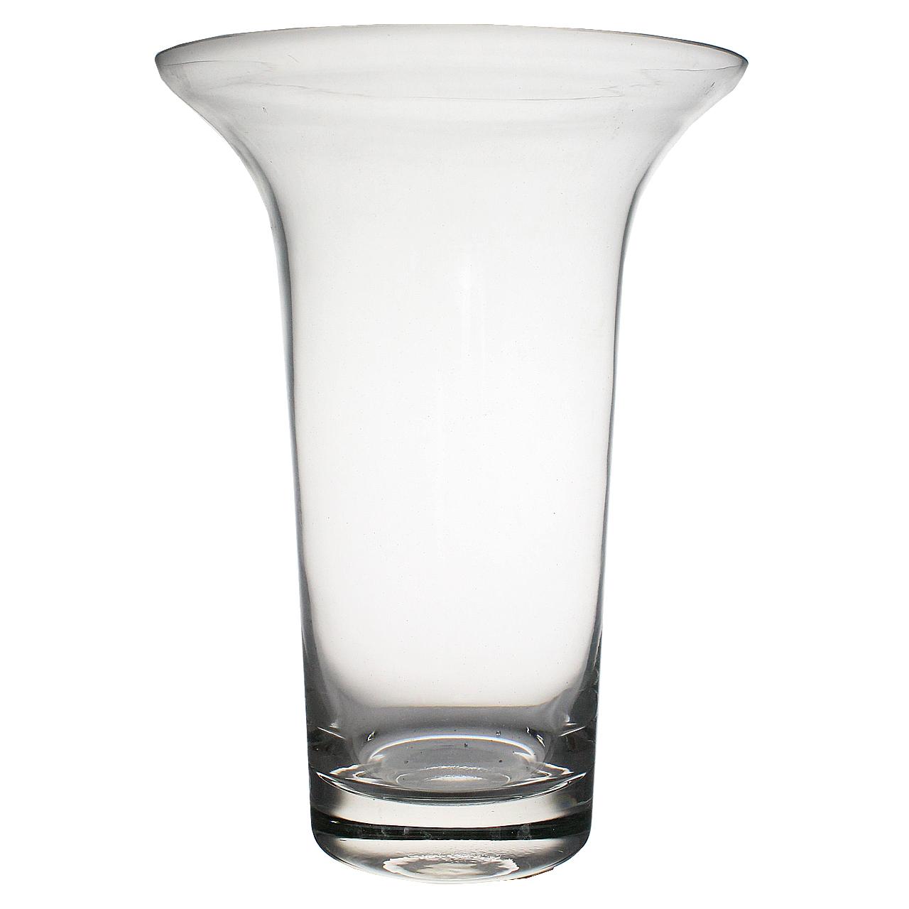 Vaza Cu Gat Larg Din Sticla 26 Cm