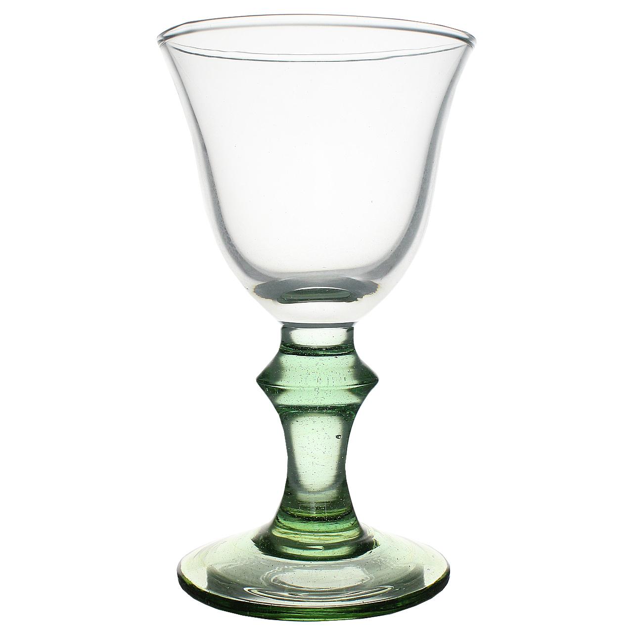 Pahar De Sampanie Cu Picior Din Sticla Verde