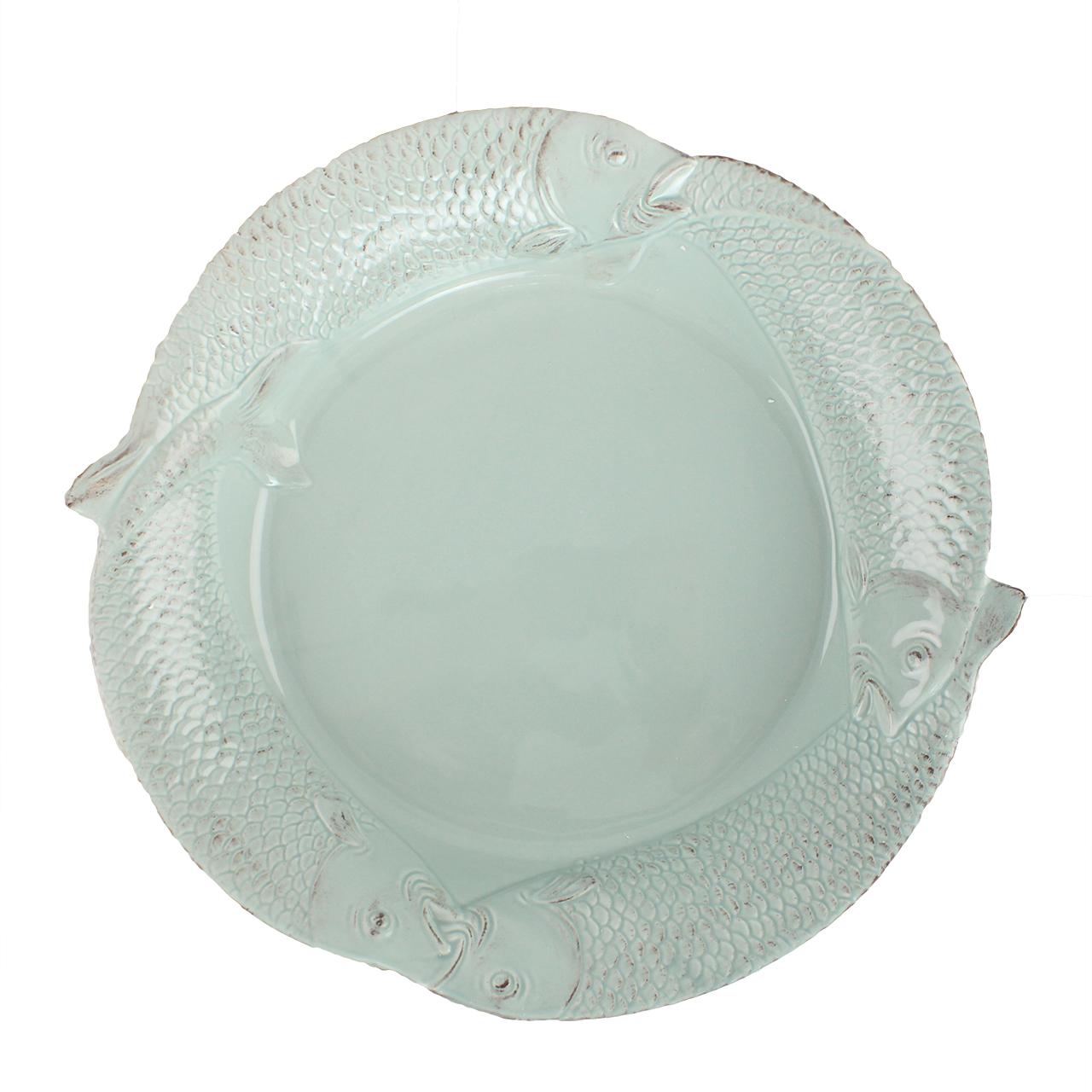 Farfurie Din Ceramica Vernil Cu Pesti