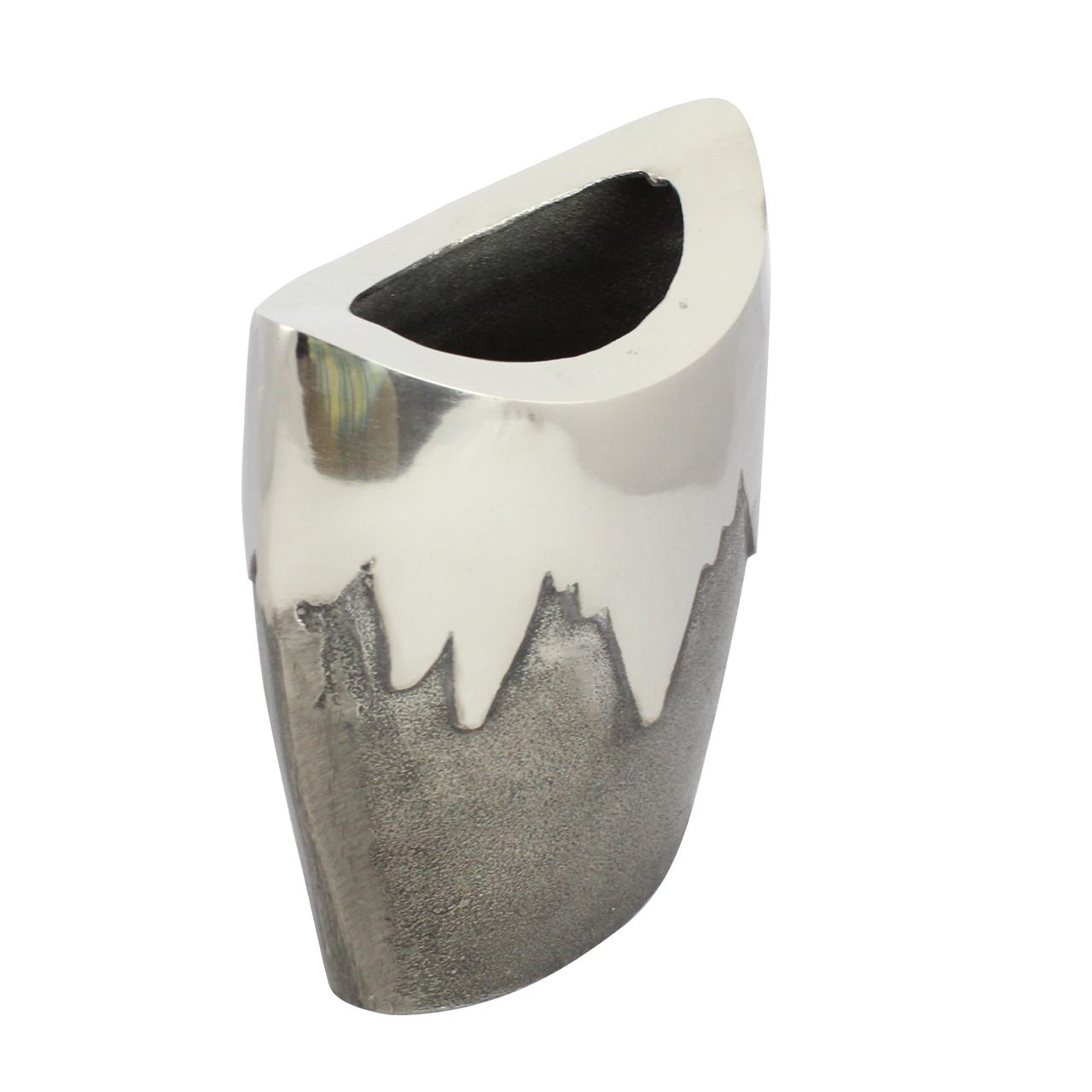 Vaza Din Aluminiu Si Nichel Argintiu 23 Cm