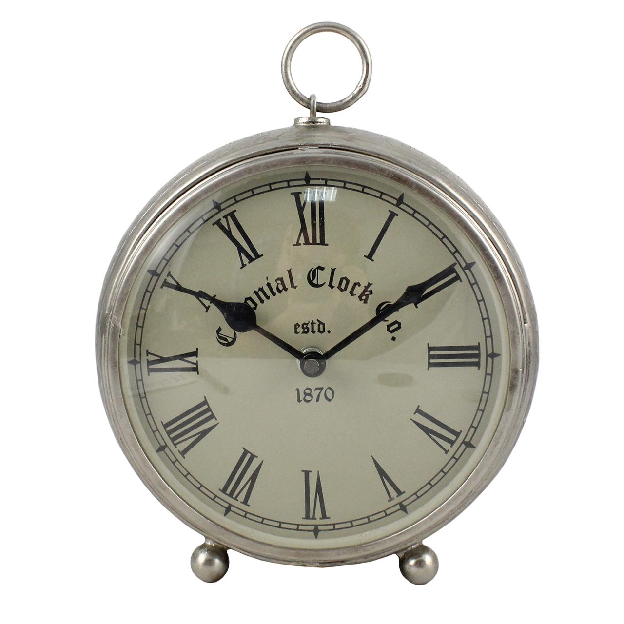 Ceas De Birou Din Nichel 18 Cm