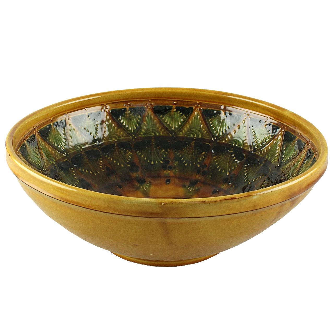 Farfurie De Salata Din Ceramica Galbena