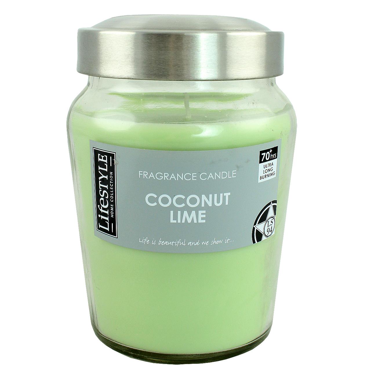 Lumanare Parfumata Verde Deschis In Borcan Din Sticla