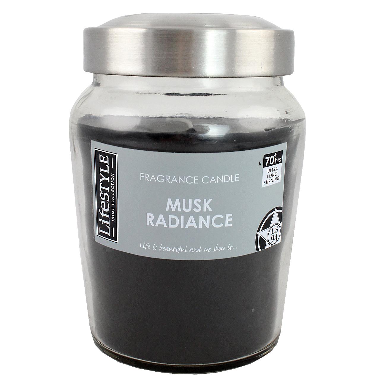 Lumanare Parfumata Neagra In Borcan Din Sticla