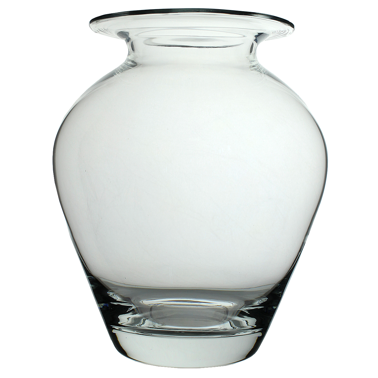 Vaza Bombata Din Sticla 26 Cm