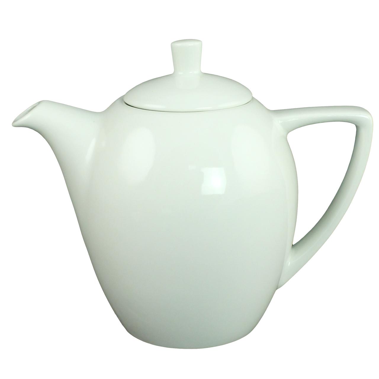 Ceainic Din Ceramica Alba 16 Cm