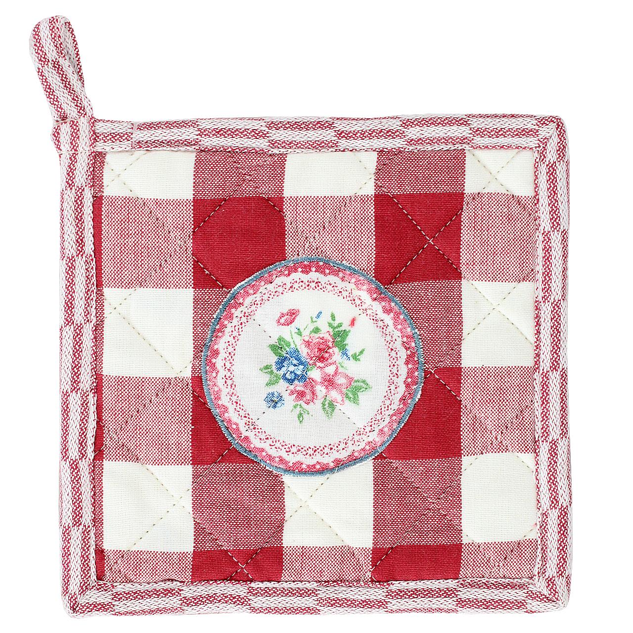 Suport Pentru Vase Fierbinti Din Textil Rosu Pepit