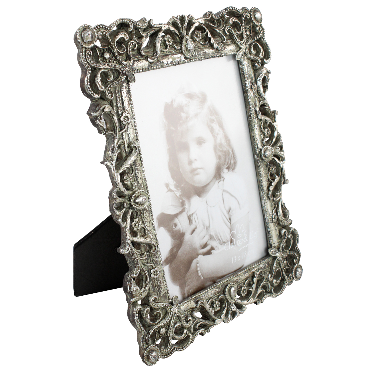 Rama Foto Dreptunghiulara Din Metal Argintiu 24x18