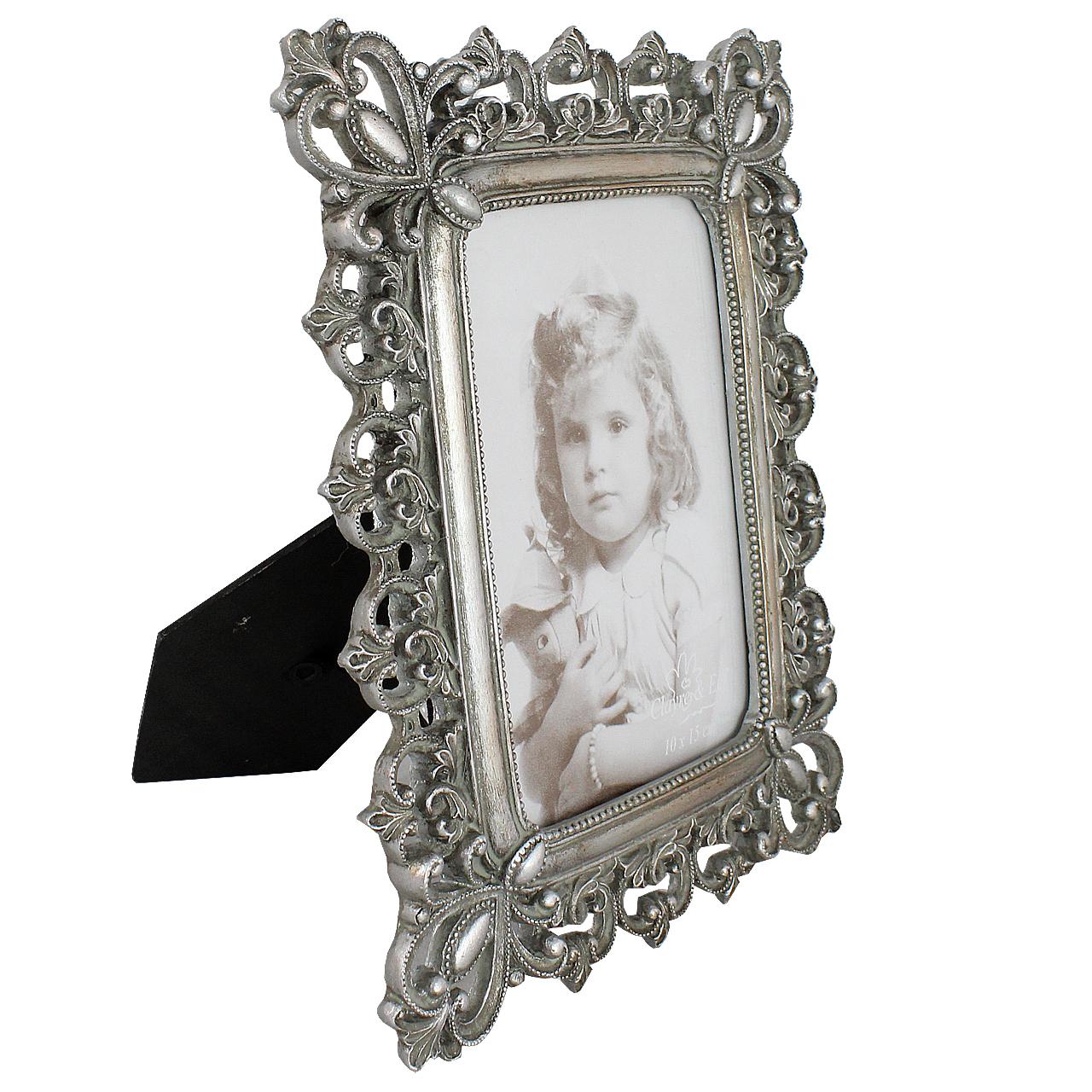 Rama Foto Dreptunghiulara Din Metal Argintiu 23x18