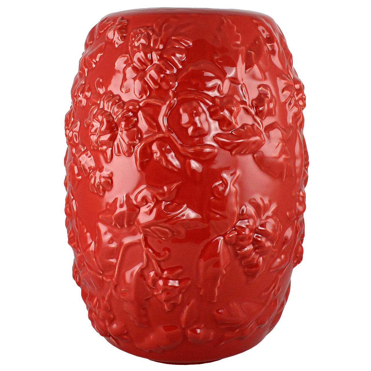 Vaza Din Ceramica Rosie 40 Cm