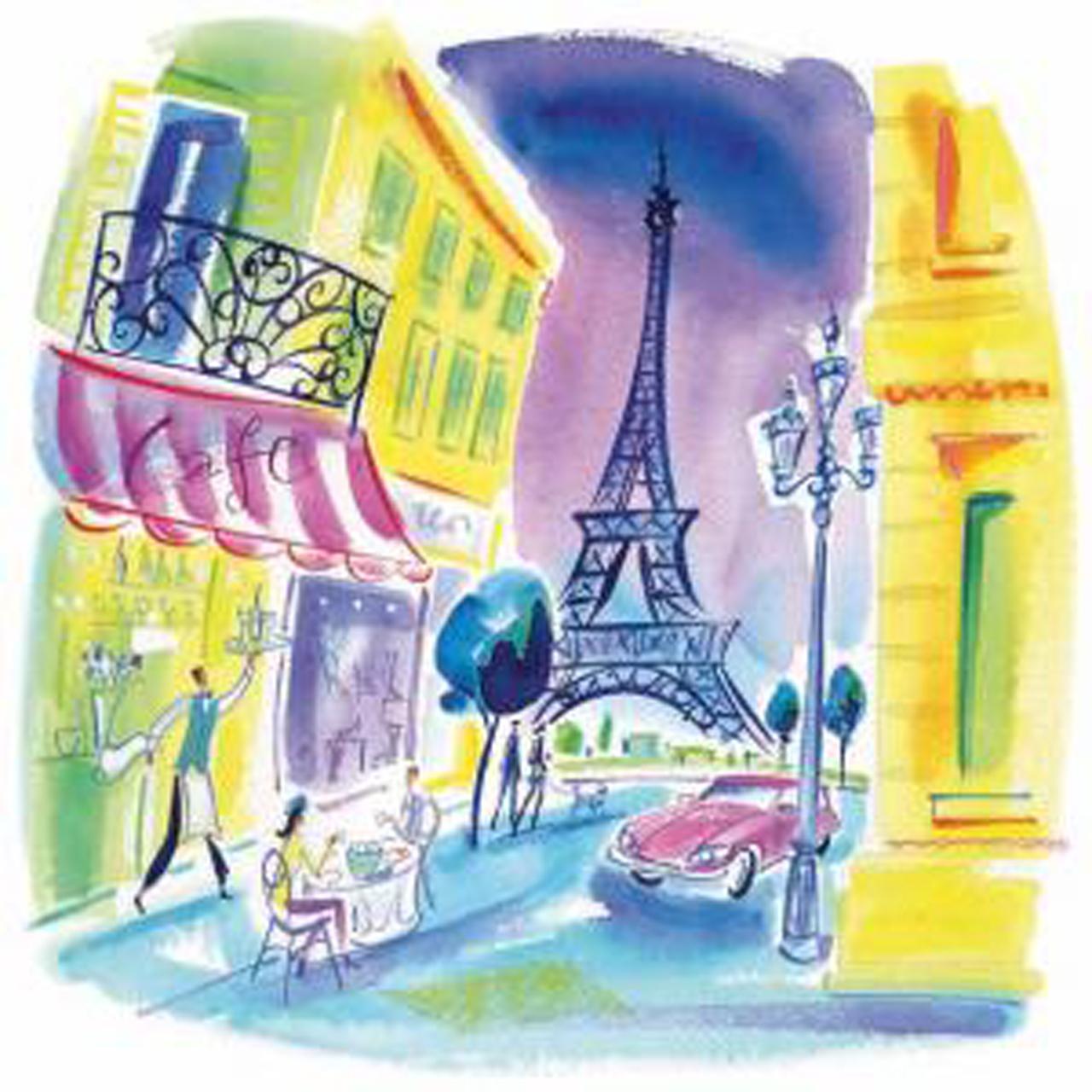 Servetele Decorative Din Hartie Cu Paris 33 Cm