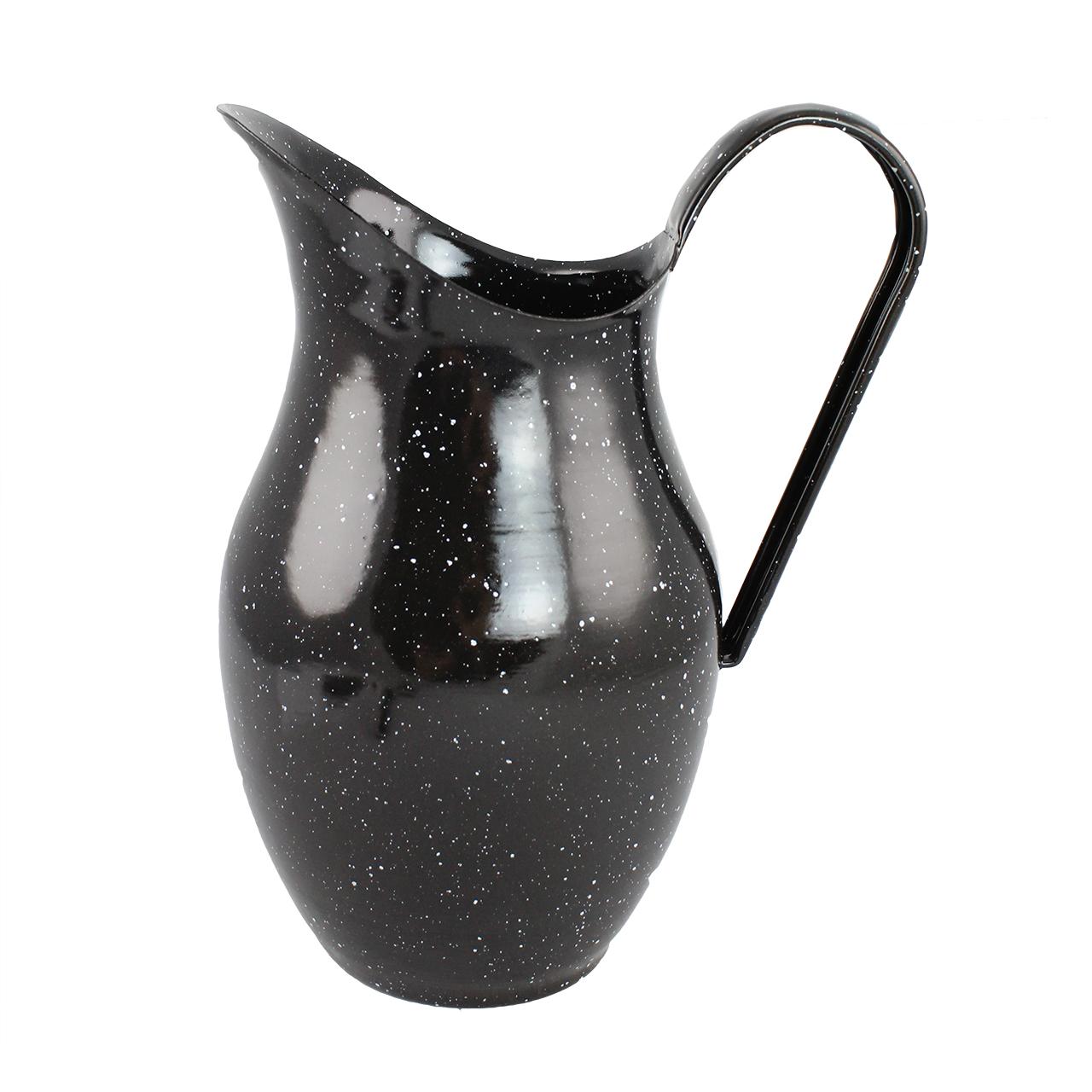 Carafa Rustica Din Metal Negru Pentru Apa