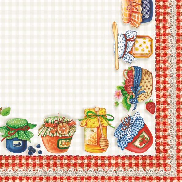 Servetele Decorative Din Hartie Cu Mic Dejun 25 Cm