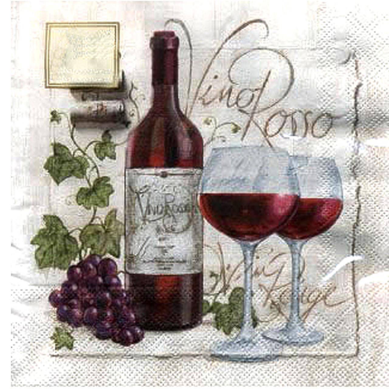 Servetele Decorative Din Hartie Cu Sticla De Vin 2