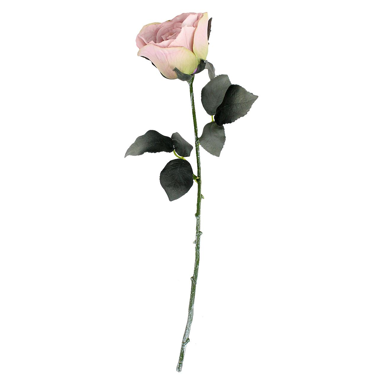 Floare Artificiala Trandafir Roz 43 Cm