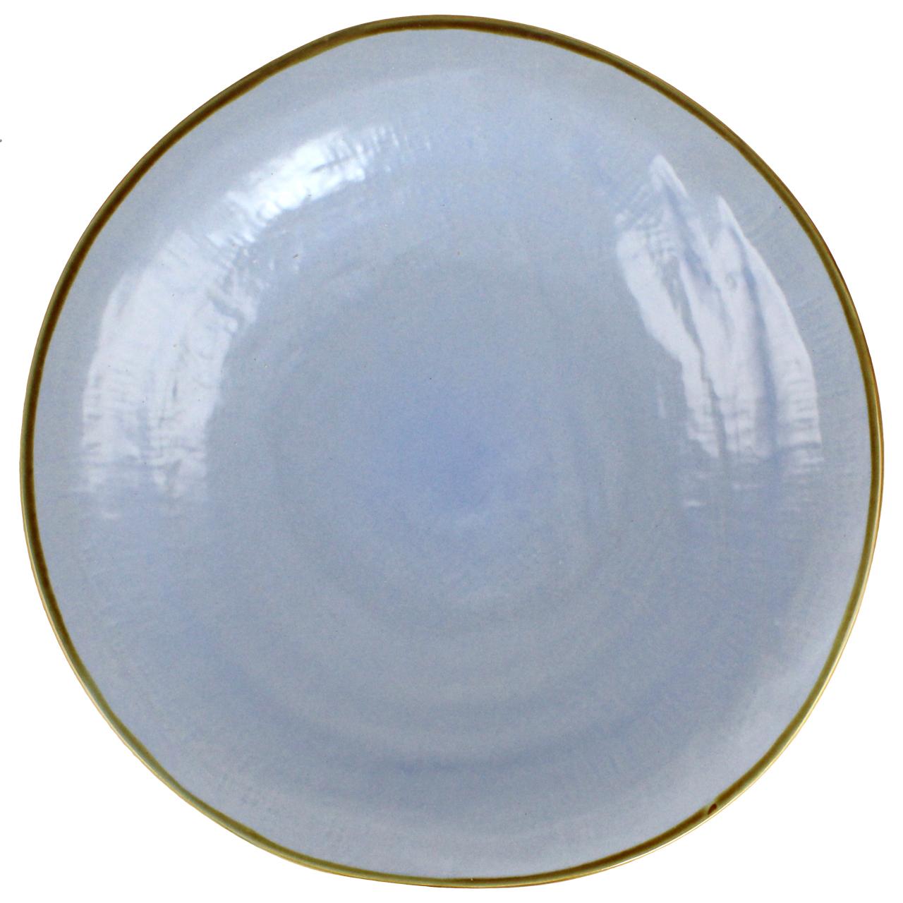 Farfurie Adanca Din Ceramica Albastra Deschis
