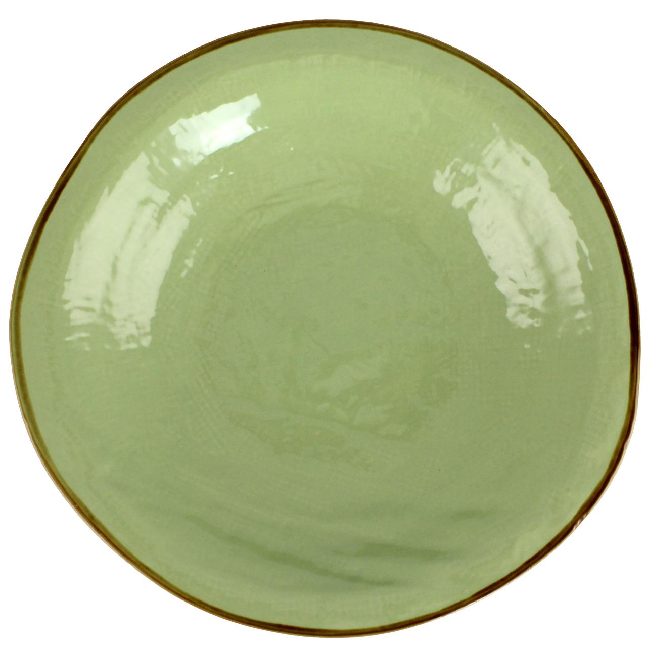 Farfurie Adanca Tradition Din Ceramica Verde 25 Cm