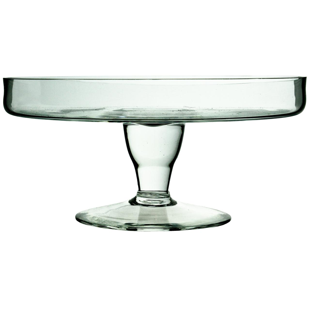 Platou Pe Picior Din Sticla Pentru Prajituri 22 Cm
