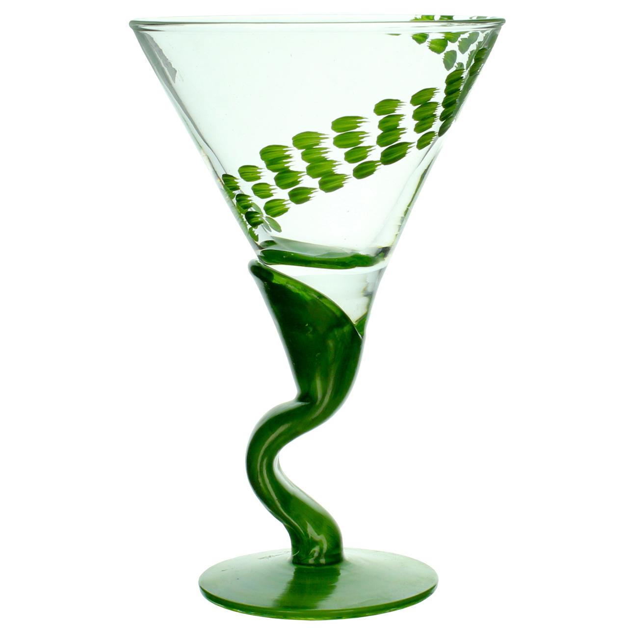 Cupa Din Sticla Cu Verde 13 Cm