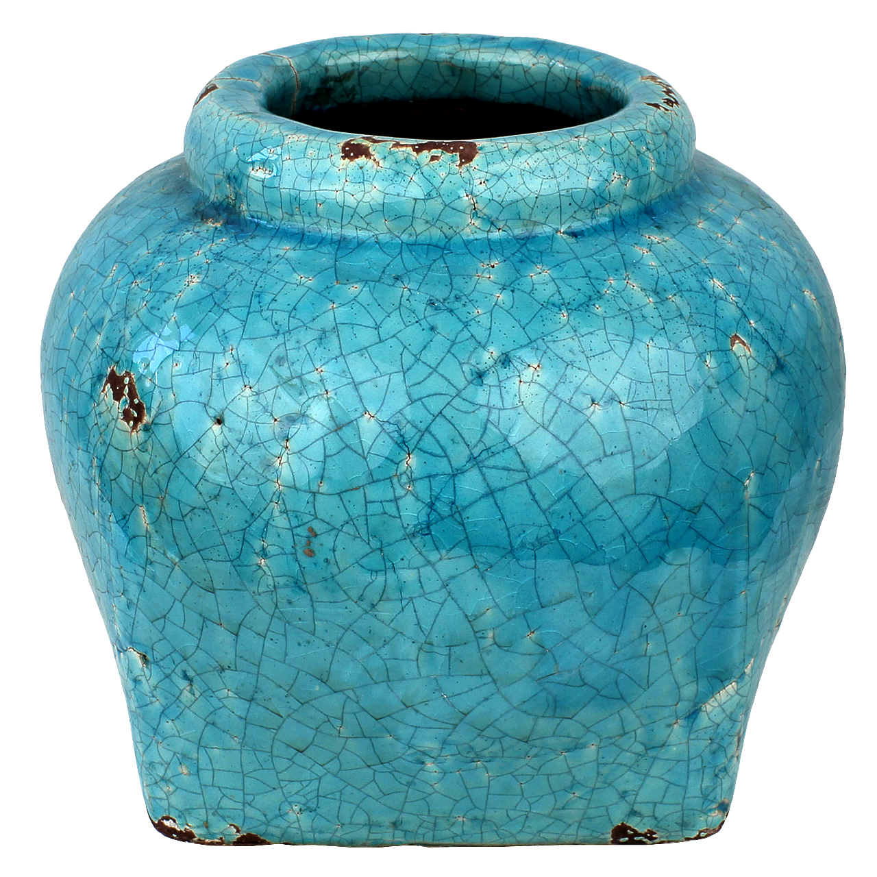 Vaza Din Ceramica Turcoaz 20 Cm