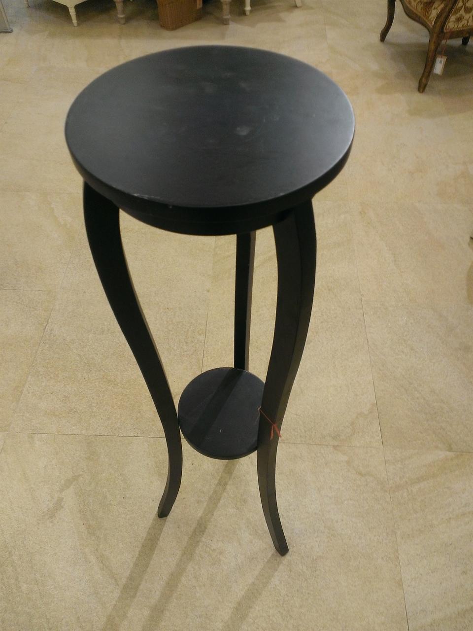 Suport Pentru Flori Miro Din Lemn Negru 125 Cm
