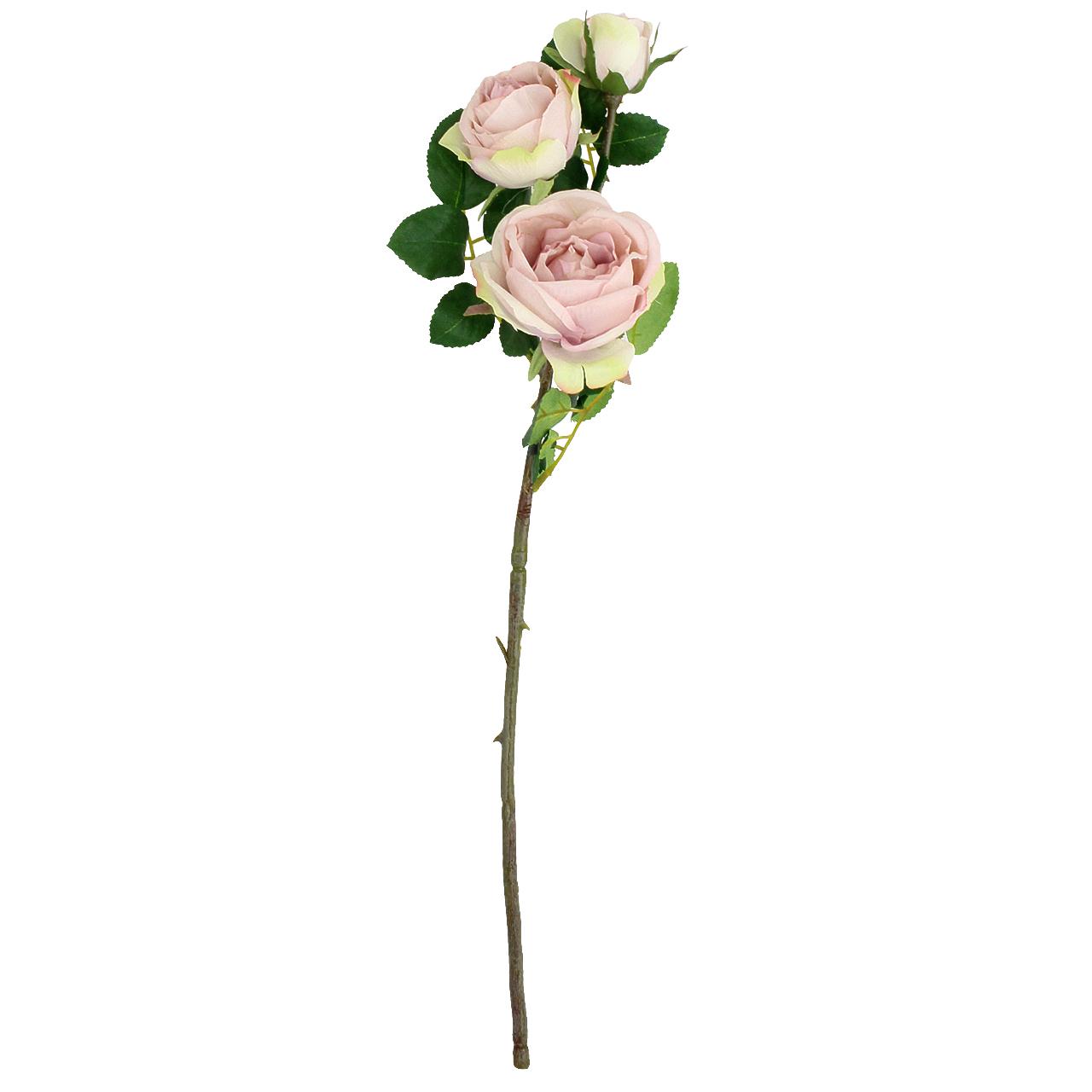 Floare Artificiala Trandafir Roz 50 Cm